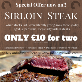 Sirloin Steak 2For £10