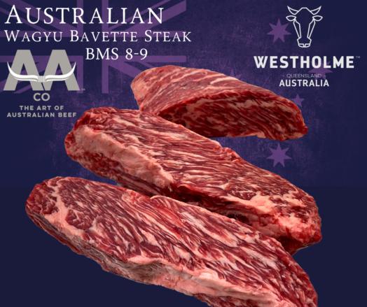 Australian Westholme Wagyu Bavette Steak BMS 8-9
