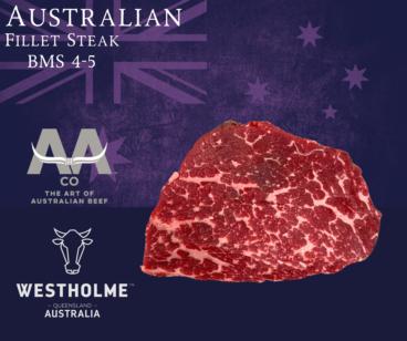 Australian Westholme Wagyu Fillet Steak BMS 4-5