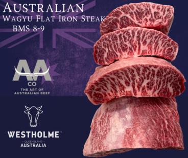 Australian Westholme Wagyu Flat Iron Steak BMS 8-9