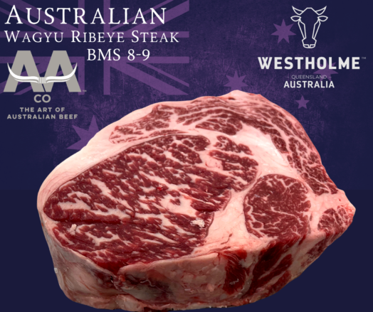 Australian Westholme Wagyu Ribeye Steak BMS 8-9