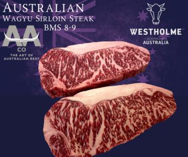 Australian Westholme Wagyu Sirloin Steak BMS 8-9