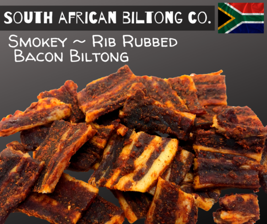 Bacon Biltong Rib Rubbed