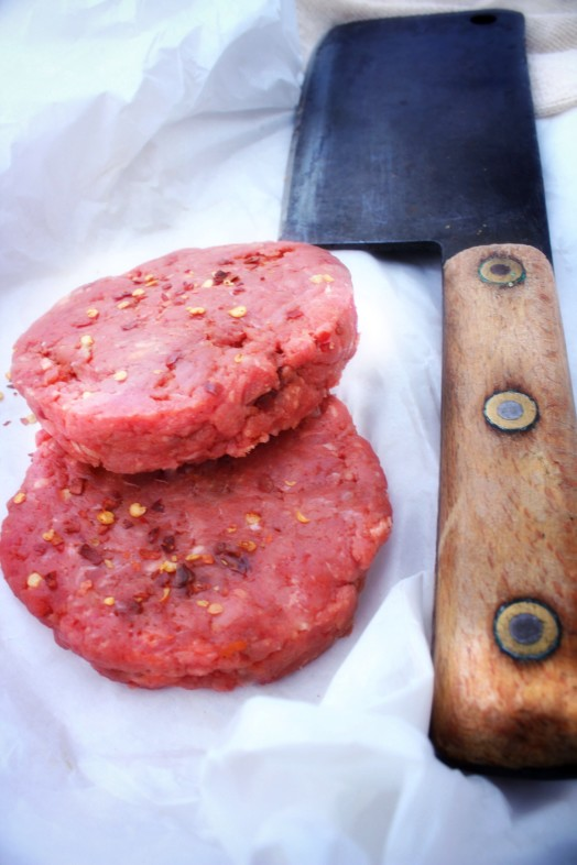 HOT Chilli Piedmontese Steak Burger ~ LOW FAT