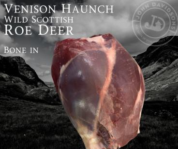 Roe Deer Venison Haunch Bone in