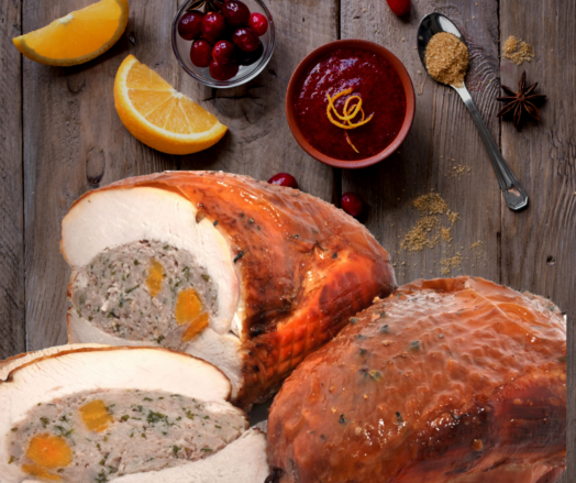Turkey Breast Roast with Apricot, Orange and Cranberry Stuffing