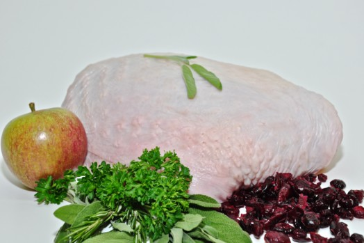 Turkey Breast Roast with Festive Spiced Apple & Cranberry Stuffing