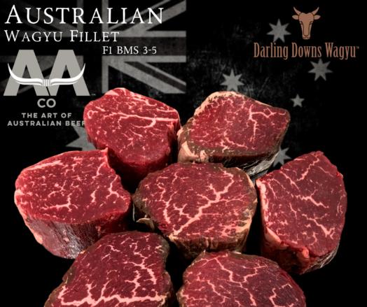 Wagyu Fillet Steaks F1 Australian
