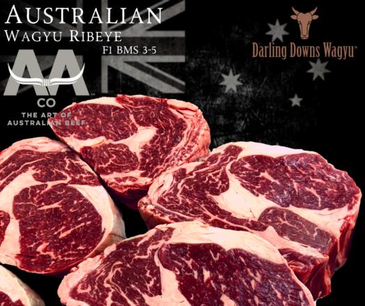 Wagyu Ribeye Steaks F1 Australian